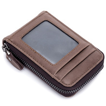 Wholesale Genuine Leather Card Holder For Men And Women Cowhide Business Credit Card Holder Top Quality Card Id Holders