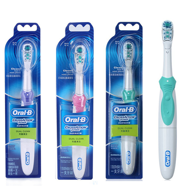 Oral B Electric Toothbrush Teeth Whitening Cross Action Tooth Brush No-Rechargeable Battery Powered Brush Teeth electric toothbrush rechargeable teeth whitening tooth brush adults childfren battery powered dental equipment