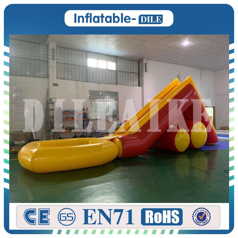 Livraison gratuite 10 mL * 2 mW sports d'été toboggan gonflable géant avec piscine pour adultes enfants parc aquatique gonflable jouet toboggan