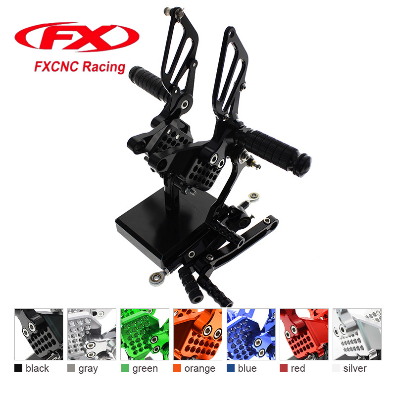 FX CNC Aluminum Adjustable Motorcycle Rearsets Rear Set Foot Pegs Pedal Footrest For DUCATI 749 999 Motorcycle Foot Rests 1set motorcycle rearset foot pegs footrest rear set for ducati 848 1098 1098s 1098r 1198 titanium wholesale d10