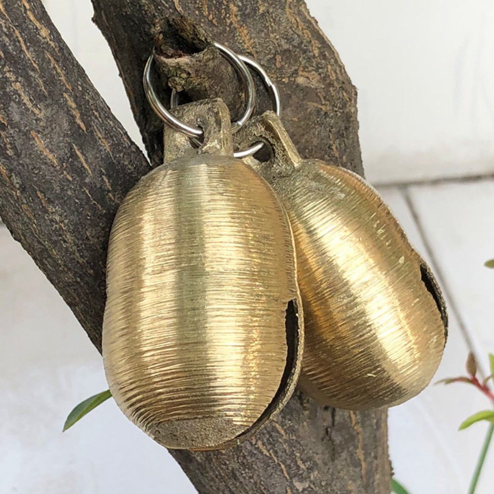 1PCS Sheep Copper Bells Livestock Animal Husbandry Copper Bells Cow Horse Sheep Equipment Grazing Bells Sound Loud Brass Bell