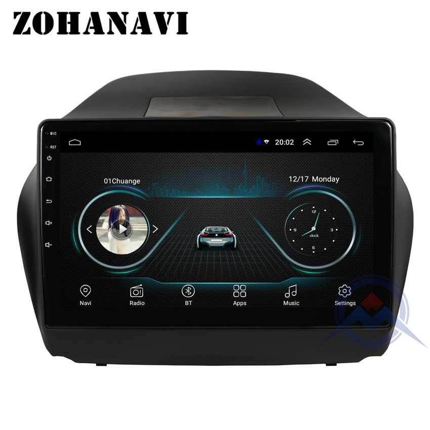 ZOHANAVI 10 2 inch Car DVD player for Hyundai Tucson IX35 2011 2014 Android car radio