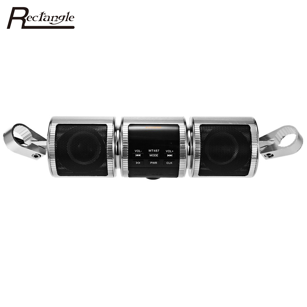Moto MP3 Player Altoparlante di Musica di Bluetooth FM Radio Impermeabile Staffa Regolabile Moto Audio Stereo
