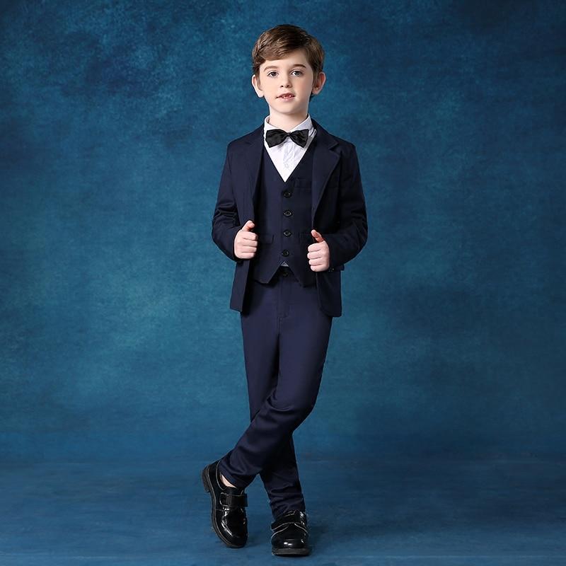 2017 autumn winter kids wear children's clothes 5 pieces boys clothing set gentleman style formal party baby boy suit