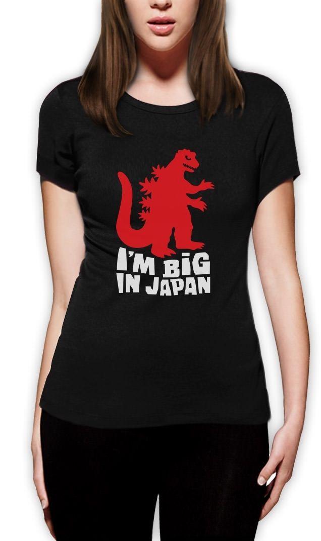I m Big In Japan Women T Shirt Funny Cute Birthday Xmas Gift Sci Fi font