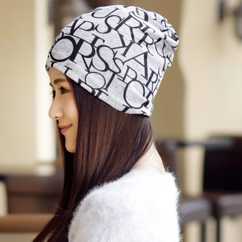 2Pcs Hip Hop Caps For Women Fashion Letter Print Skullies Beanies Turban Hat Girls Hats Casual Gorros Autumn Winter Cap 3 Use rosicil skullies beanies winter hats for women letter beanies women hip hot caps skullies girls gorros women beanies female