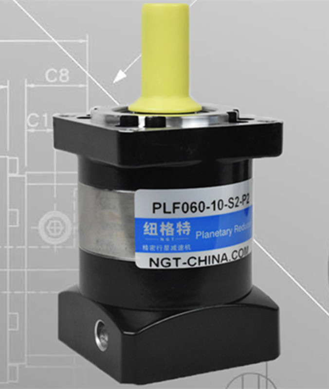 PLF60-10-S2-P2 60mm planetary gear reducer Ratio 10:1 for NEMA23 stepper motor shaft 8mm nema23 geared stepping motor ratio 50 1 planetary gear stepper motor l76mm 3a 1 8nm 4leads for cnc router
