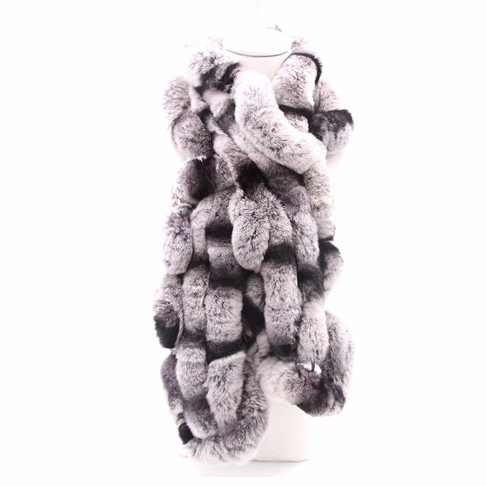 Fur Tails Patchwork Scarf | Winter Scarves | Up to 60% Off Now