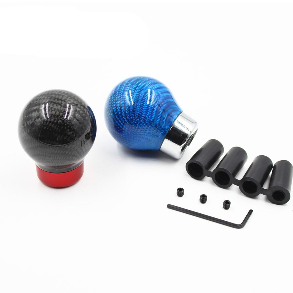 Universal Real Carbon Fiber <font><b>Gear</b></font> Shift <font><b>Knob</b></font> Manual/Automatic Transmission Aluminum <font><b>Gear</b></font> <font><b>knob</b></font> For Honda <font><b>VW</b></font> BMW <font><b>Golf</b></font> <font><b>Mk3</b></font> image