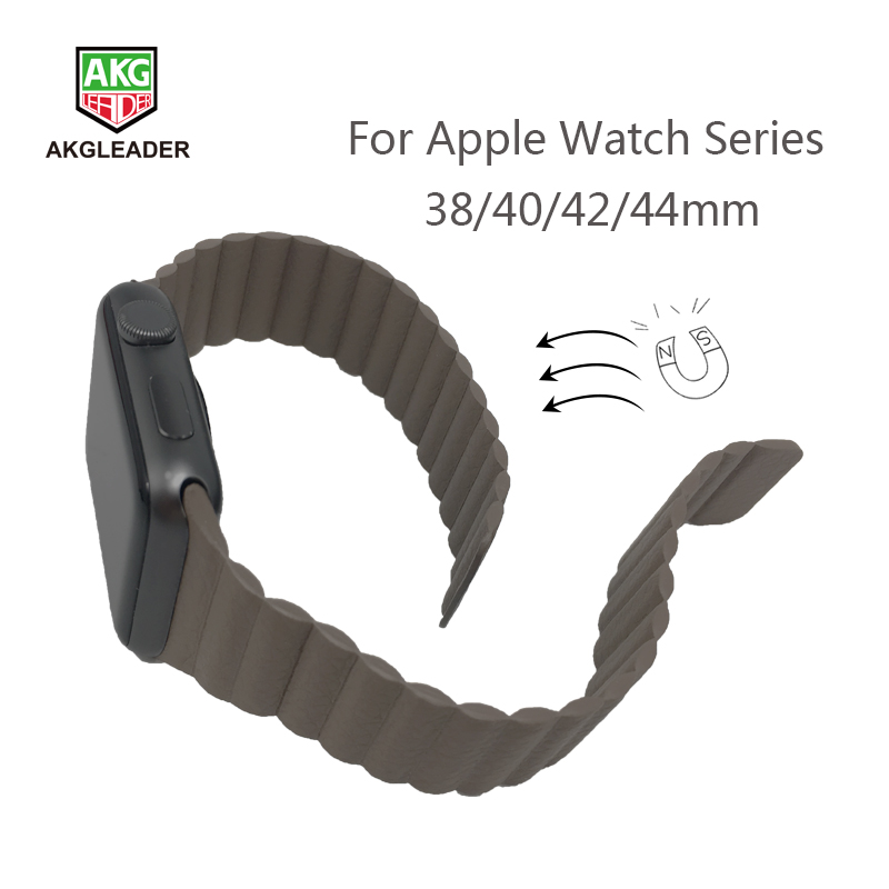 Newest Wrist Strap For Apple Watch 4 44mm High Quality Leather Magnetic Clasp Watch Band For Apple Series 1 2 3 Watchband 40mmNewest Wrist Strap For Apple Watch 4 44mm High Quality Leather Magnetic Clasp Watch Band For Apple Series 1 2 3 Watchband 40mm