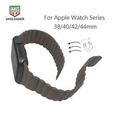 Newest Wrist Strap For Apple Watch 4 44mm High Quality Leather Magnetic Clasp Band Series 1 2 3 Watchband 40mm