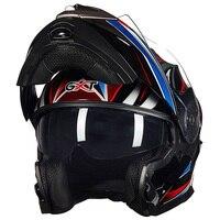 Vcoros Winter Flipup Motorcycle Helmet Anti Fog Lens Full Face Racing Motorbike Helmet Double Sun Viso