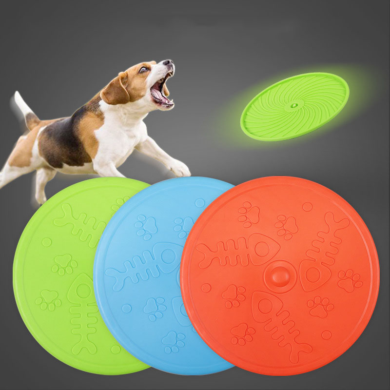 Dog Flying Disc Durable Plastic Catcher Toy 8 Inch Large ...