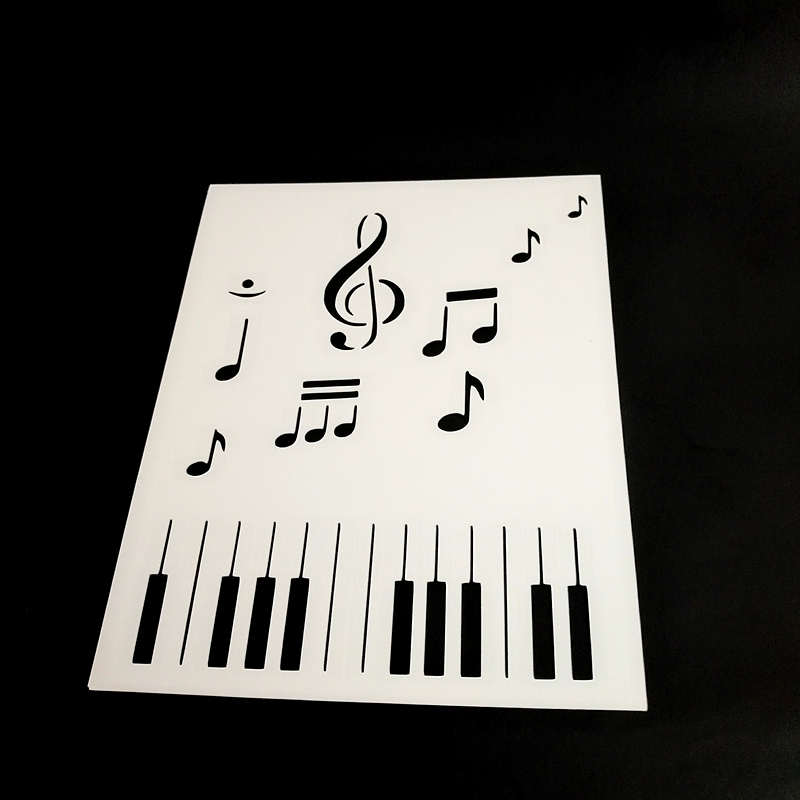 MUSIC NOTES, PIANO KEYS Stencil for Craft Projects, Scrapbooking,Card Making,gift box diy decor,Polymer Clay,1 pc flower of life stencils reusable for card making stamping projects making acrylic paints polymer clay scrapbooking 5 5 5 5