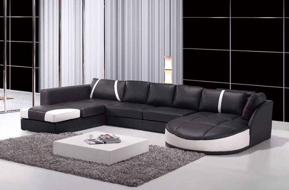 Modern Fashion Living Room Furniture I Shape Sofa Set Designs
