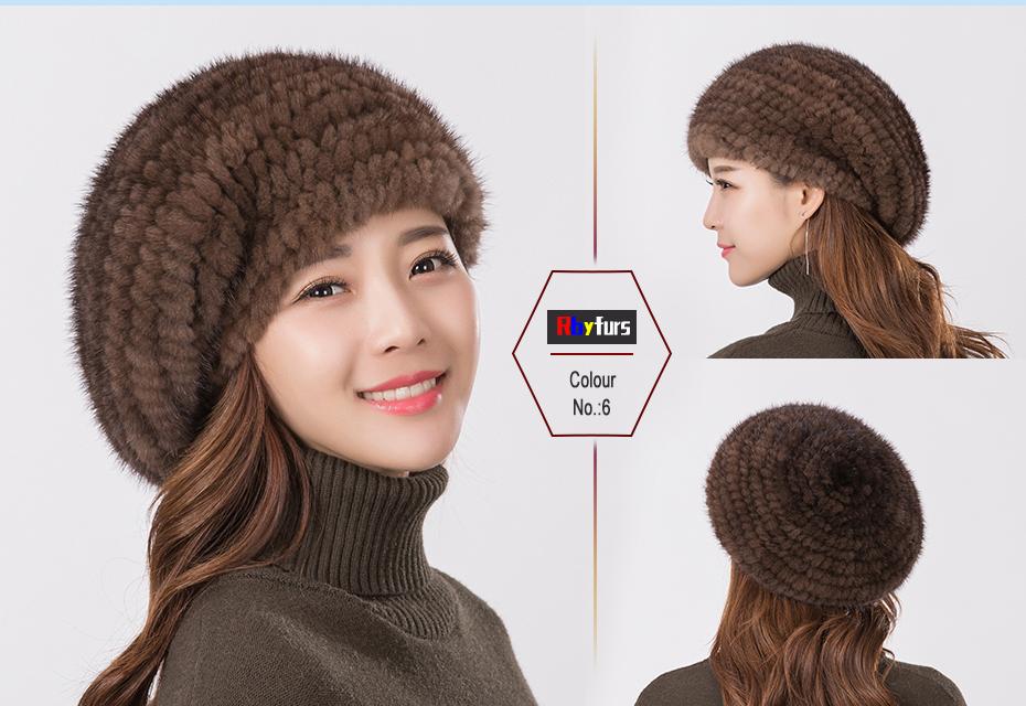 d3514e2804 Moda kobiety prawdziwe norek kapelusz zima ciepłe futro z norek czapki z dzianiny  kobiet futra lisa nasadka kulkowaUSD 19.05-23.76 piece