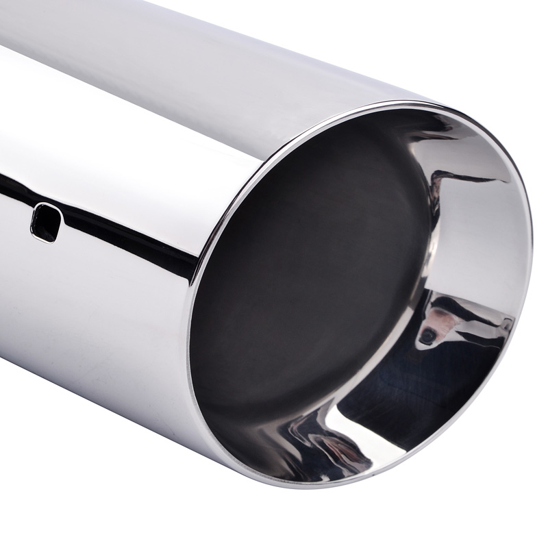 ESPEEDER Stainless Steel Exhaust Tip Pipe Car Styling Round Tip Modified Car Tail For Exhaust pipe 54mm 51mm 50mm Muffler Tail in Mufflers from Automobiles Motorcycles