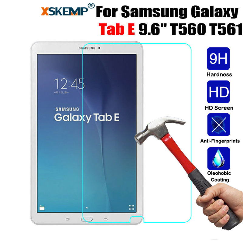 XSKEMP 9H Real Tempered Glass For Samsung Galaxy Tab E 9.6 SM-T560 / T561 Screen Protector Tablet Safety Protective Glass Film new 9h glass tempered for huawei mediapad t5 10 tempered glass screen film for huawei mediapad t5 10 inch tablet screen film