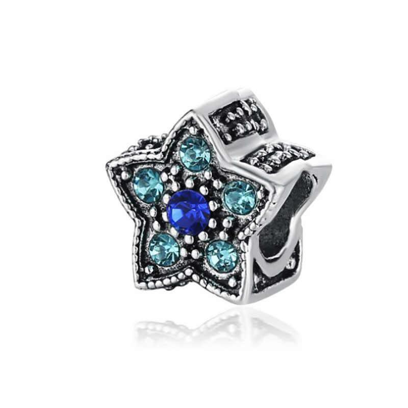 Fit Pandora Charms Silver 925 Original Bracelet Jewelry Valentine's Day Mary Poppins Bijoux Sieraden Kolczyki Crystal Beads