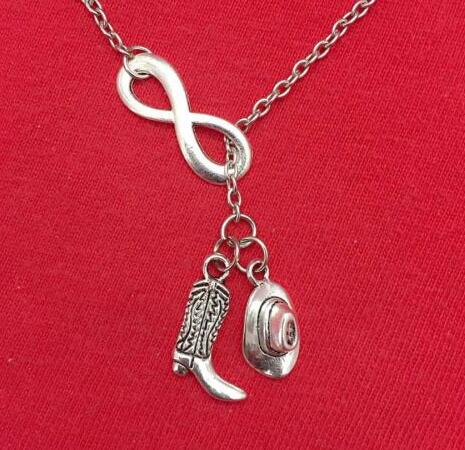 Vintage Silver Infinity Cowboy Hat High Heels I Love Baseball Cross Cupid  Uncle Wing Choker Chain Necklace Pendant Jewelry Gift - Baseball High Heels Promotion-Shop For Promotional Baseball High