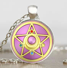 JP Anime Sailor Moon Mens Handmade New Fashion Necklace brass silver glass dome Pendant steampunk Jewelry Gift womens chain mens