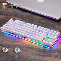 Moto speed clavier mécanique de jeu, jeu Original, USB, avec rétro-éclairage RGB, interrupteur rouge/bleu pour le jeu en PC, K87S