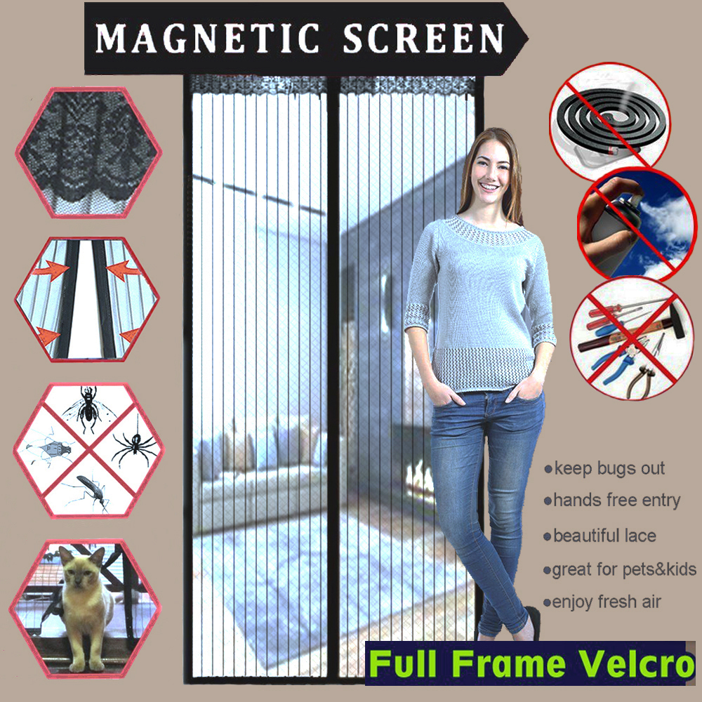 Compare prices on magnetic screen doors online shoppingbuy low magnetic screen door with full frame velcrofits door up to 34x82 vtopaller Image collections