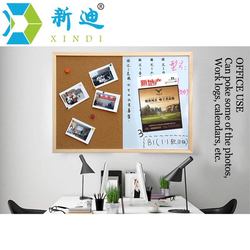 XINDI Message Cork Board Wood Frame Whiteboard Drawing Boards Combination 30*40cm Bulletin Magnetic Marker Board Free Shipping 4
