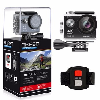 AKASO EK7000 4k WIFI Outdoor Sport Action Camera Ultra HD Waterproof DV Camcorder 12MP Extreme Underwater 1080p 60fps Video Cam 1