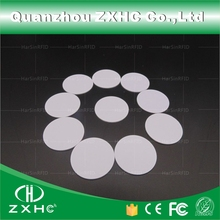 (10pcs) Round Shape 25mm NFC Tag Ntag216 888 Bytes Plastic PVC Coin Cards Used For Android,IOS And All NFC Phone
