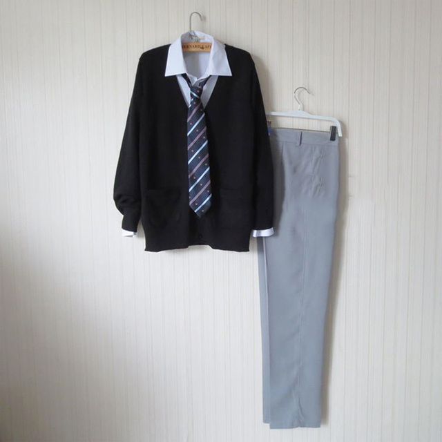 Plus Size Preppy Style Black Sweater Cardigan Sweater Harajuku