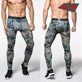 Academias de ginástica Nova Camuflagem Calças Dos Homens Calça De Compressão Elástica Tecidos Levantamento Musculação Calças de Pele Calças Roupas de Marca