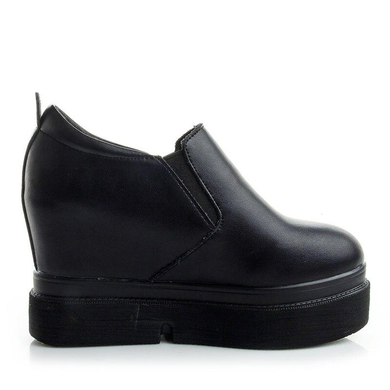 De Noir Pour Coins Casual Hauteur Printemps Lorfrcin En Cuir blanc Véritable Chaussures Sneakers Mocassins Femme Femmes Croissante Plate forme kN80wXZnOP