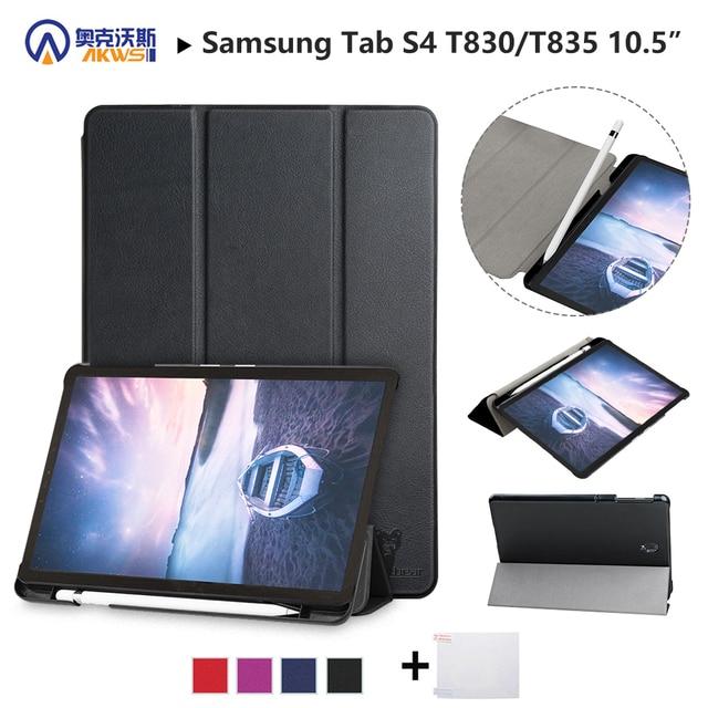 """Los caminantes caso Slim para Samsung Galaxy Tab S4 T830 T835 SM-T835 SM-T835 10,5 """"Tablet (2018 liberado) piel protectora + stylus + película"""