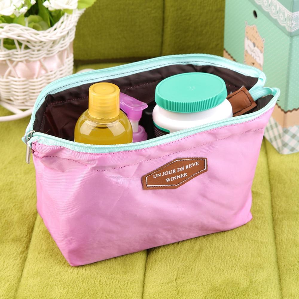 Beautician Travel Makeup Bag Cosmetic Zipper Pouch Clutch Women's Organizer Handbag Casual Purse Storage Bags