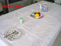 Pure handmade embroidery table cloth tablecloth bed cover handtablecloth fashion