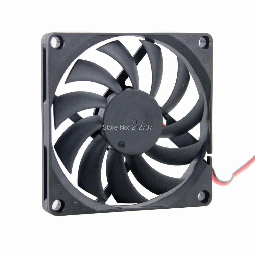 Купить с кэшбэком 2pcs/lot Gdstime 5V 2Pin 80mm 8cm 80x80x10mm 8010 Ventilation Motor DC Cooling Fan