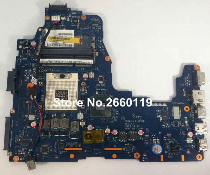 laptop motherboard for toshiba P755 LA-6832P K000121690 system mainboard, fully tested laptop motherboard for toshiba t130d a000063990 dabu3amb8e0 system mainboard fully tested and working well