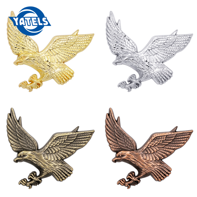 3D Metal Car Decoration Animal Stickers Logo Eagle Aluminium Emblem Badge Decal Motorcycle For Auto Styling Car Accessories