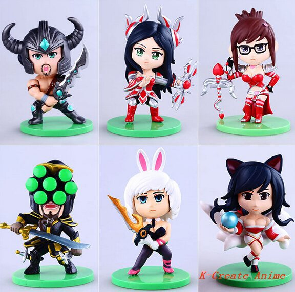 ФОТО Free shipping 5set (6pcs/set) 3generation Q version game action pvc figure tall 10cm.5set game character figure packed in box.