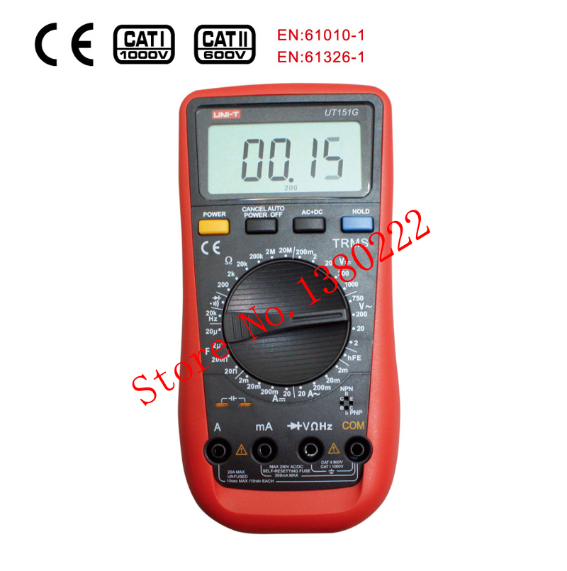 ФОТО UNI-T UT151G High Reliability Handheld Digital Multimeter Professional Electrical Handheld Tester  LCR Meter Ammeter Multitester
