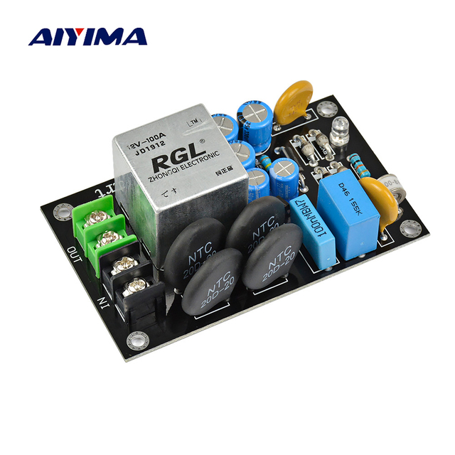 AIYIMA 2000W Power Supply Soft Starting Board High Power For 1969 Amplifier Speaker DIY 100A Relay Thunder Protection 110V 220V