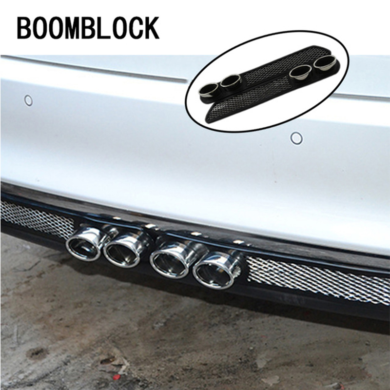 3D Automobiles Car Exhaust pipe Stickers For Subaru Forester XV Toyota Corolla Avensis RAV4 C-HR Honda Civic Accord CRV Fit