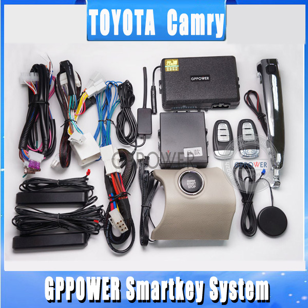 US $289 47 |2013 More fashion, Alarm system for Toyota Camry, push button/  remote start engine,easy keyless release anti thief alarm system-in Tire