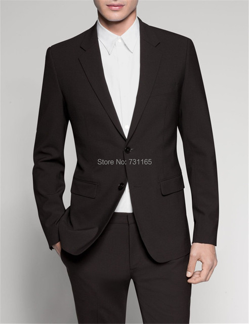 Black  tailor slim fit wedding suits for men Retro Business gentleman style custom made mens 3 piece suit