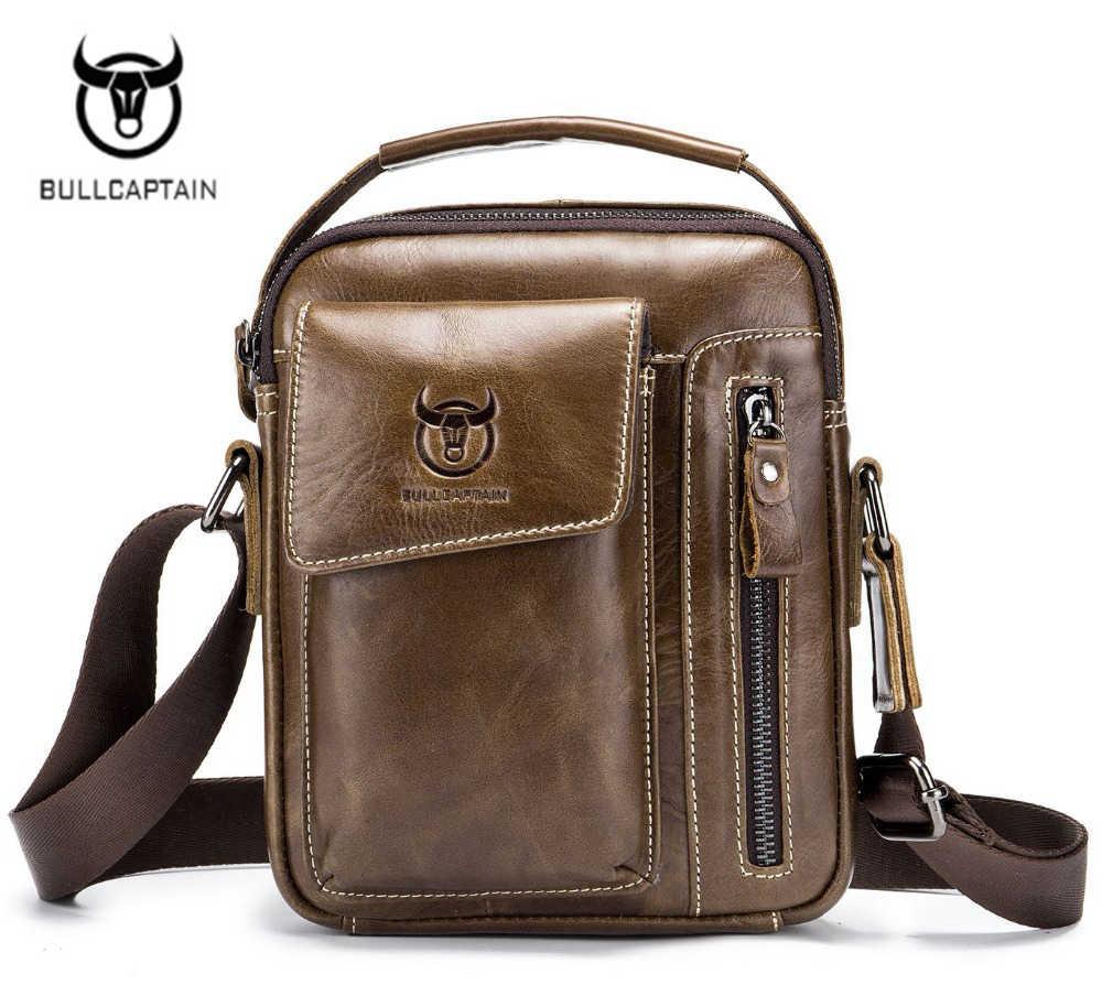 ABDB Bullcaptain Genuine Leather men bags male cowhide flap bag Shoulder  Crossbody bags Handbags Messenger small 88cd921ad7028