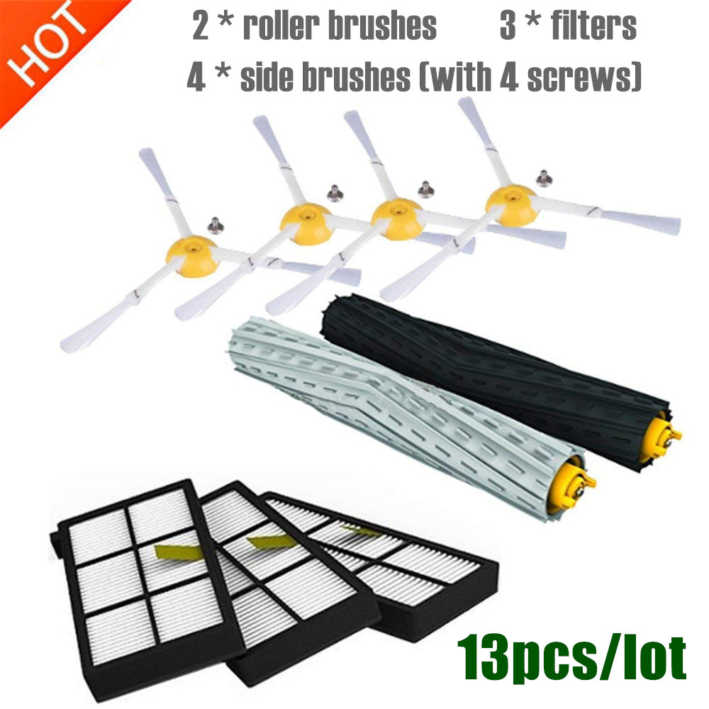 13pcs/lot For IRobot Roomba Parts Kit Series 800 860 865 866 870 871 880 885 886 890 900 960 966 980 - Brushes And Filters
