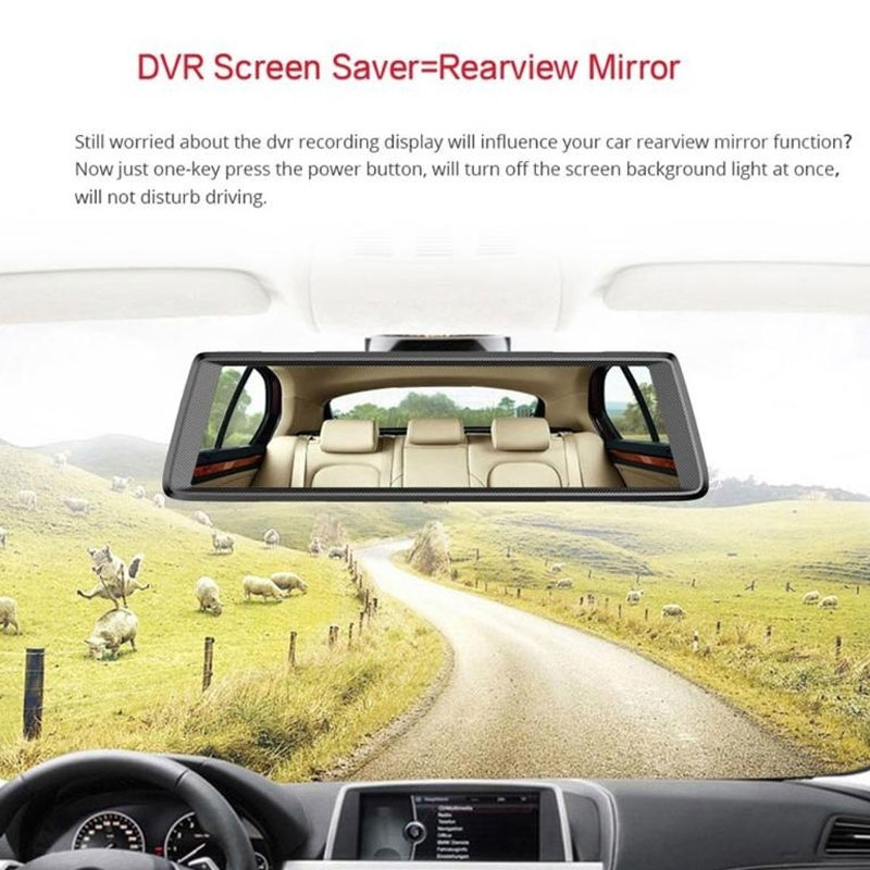 """Rearview Mirror 10.0"""" Touch Screen Automobile Data Recorder Car Rearview Monitor Recorder Camera Universal Touch Screen Sensors"""