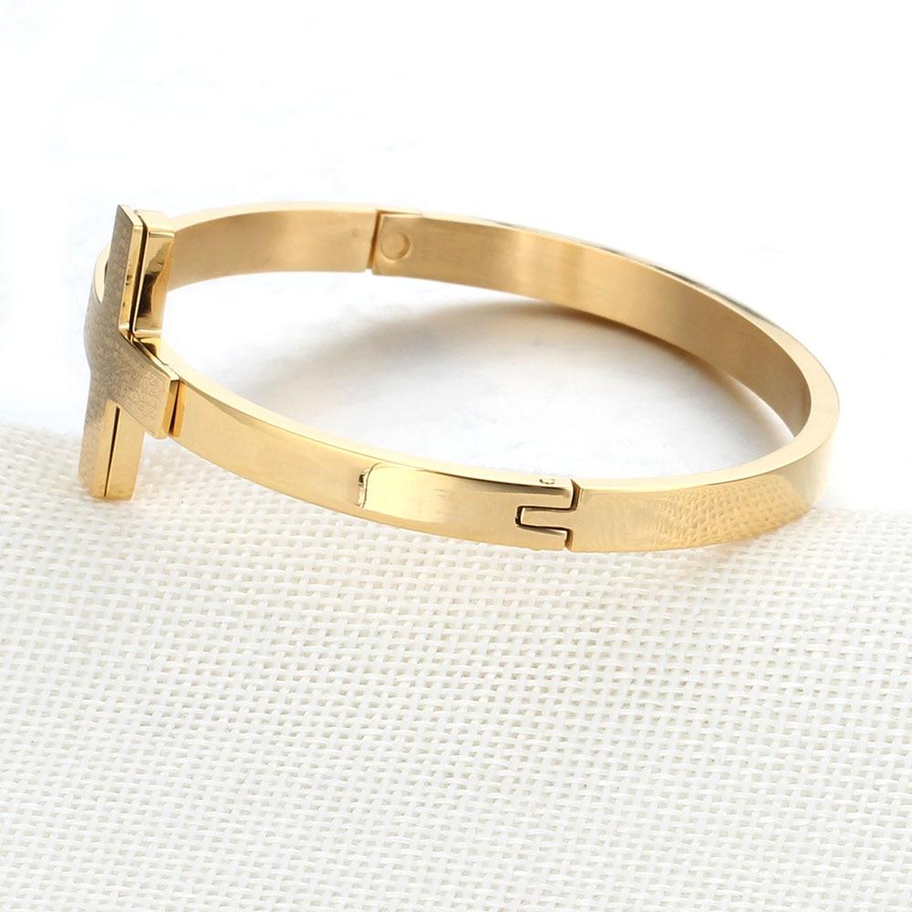 Rose Gold Simple Cross Bracelet Women New Fashion Jewelry Wholesale