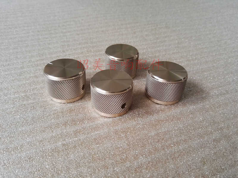 Diameter 30mm tinggi 22mm all-aluminium power amplifier tombol volume padat potensiometer kenop HIFI audio amplifier knob